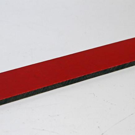 Micarta schwarz mit roter Zwischenlage