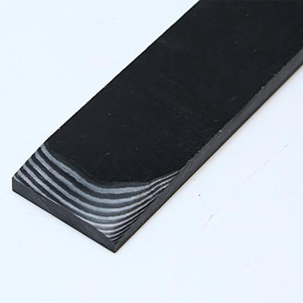 Micarta Leinen schwarz-weiß
