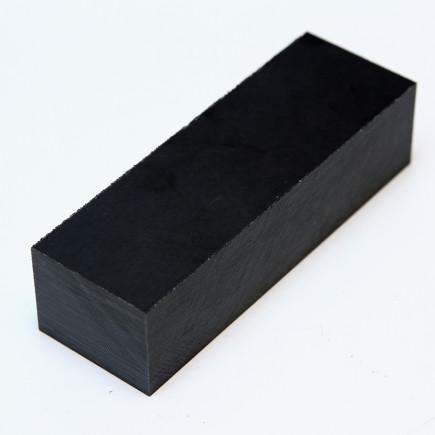 Micarta schwarz-weiß Block