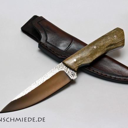 Jagdmesser D2 mit Mammutknochen Griff