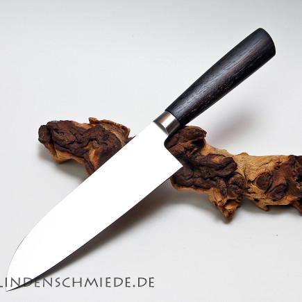 Santoku Kochmesser 18cm Räuchereiche