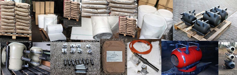 Feuerfest Beton Feuerbeton Keramikfasermatte Gasbrenner für Gasessen