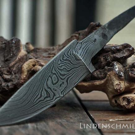 Jagdmesser Klinge aus Damaszenerstahl